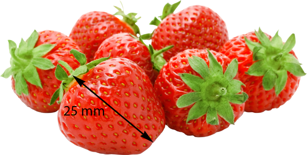 Strawberry cooling heating particles